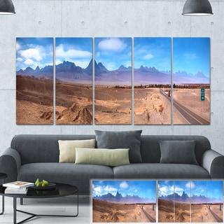 Designart 'San Pedro de Atacama Chile Panorama' Cityscape Large Canvas Print