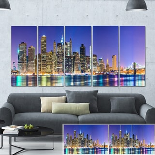Designart 'New York Cityscape Panorama' Photo Print on Canvas