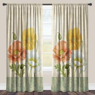 Laural Home Poppy Garden Sheer Curtain Panel (Single Panel)