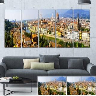 Designart 'Florence Panoramic View' Cityscape Photo Large Canvas Print