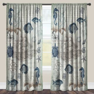 Laural Home Vintage Seaside Maritime Sheer Window Curtain (Single Panel)|https://ak1.ostkcdn.com/images/products/11664429/P18593922.jpg?impolicy=medium
