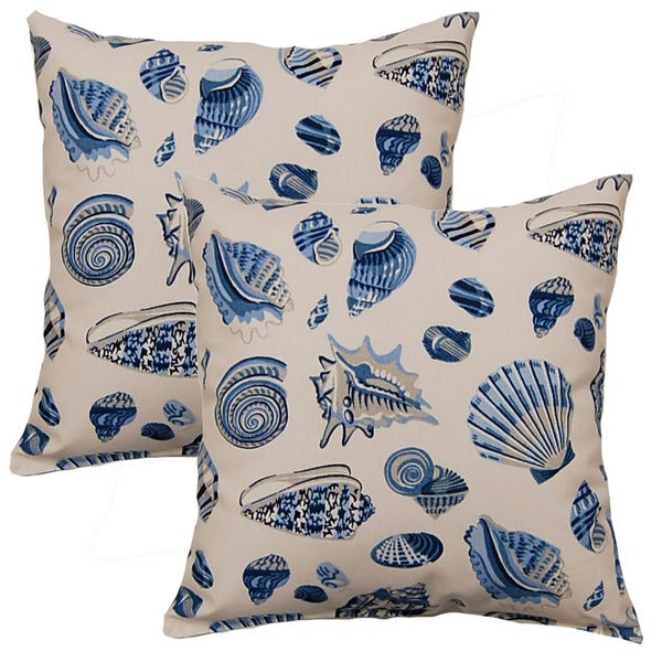 Low Tide Mar-inche 17-inch Throw Pillows (Set of 2)
