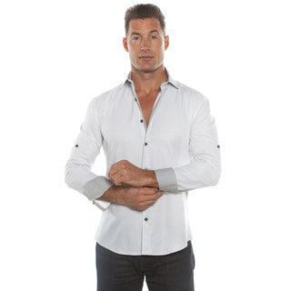 Isaac B. Grey Solid Long Sleeve Button Down Shirt