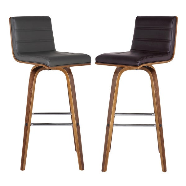 Armen Living Vienna 30 inch Swivel Bar Height Barstool in  : Armen Living Vienna 30 inch Swivel Bar Height Barstool in Walnut Wood Finish with PU Upholstery Color Options 84d27237 3bf2 4f23 9010 8b3151e78e2f600 from www.overstock.com size 600 x 600 jpeg 21kB