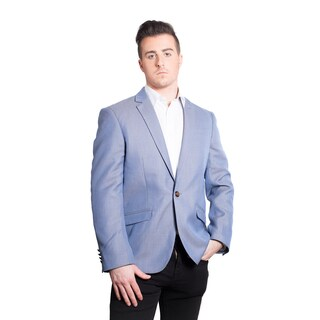 Elie Balleh Men's Milano Italy Light Blue Slim Fit Jacket