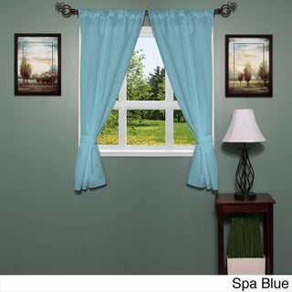 Classic Hotel Quality Water Resistant Fabric Curtain Set with Tiebacks - 36 x 54 (More options available)