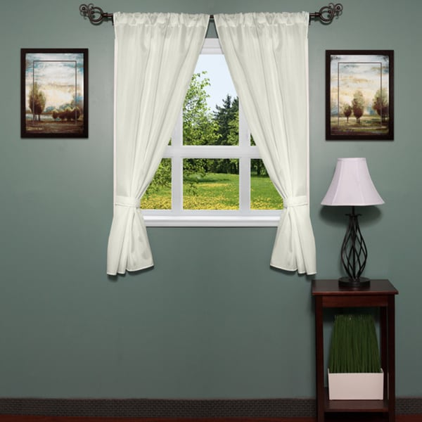Classic Hotel Quality Water Resistant Fabric Curtain Set With Tiebacks Free Shipping On Orders