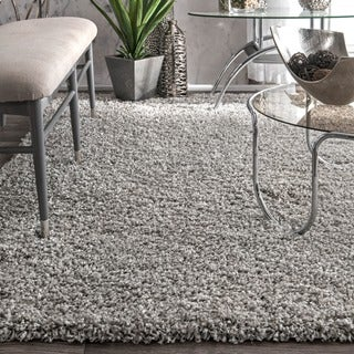nuLOOM Alexa My Soft and Plush Solid Silver Shag Runner Rug (2'8 x 8')