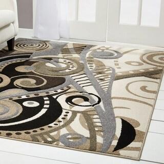 Home Dynamix Sumatra Collection Contemporary Brown Area Rug (5'2 x 5'2) - 5'3