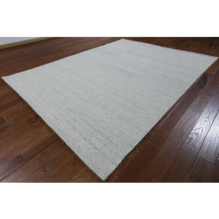 Hand-knotted Moroccan Berber Grey Wool Area Rug (9'1 x 12'1)