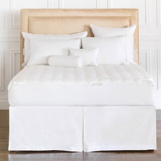 Alexander Comforts Beverly Natural Cotton Mattress Pad - White