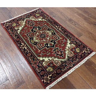 Hand-knotted Serapi Red Wool Area Rug (2'7 x 4'1)