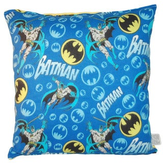 Lillowz Batman Reversible 14 inch x 14 inch Medium Sized Throw Pillow