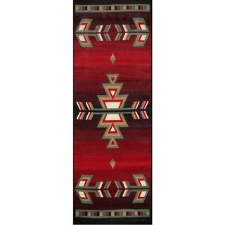 Home Dynamix Premium Collection Black Polypropylene Machine Made Area Rug Runner (1'9 x 7'2) - 1'10 x 7'6