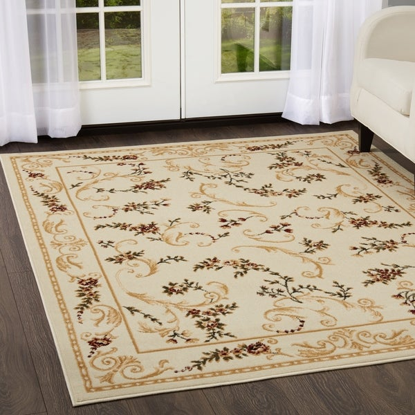 Home Dynamix Optimum Collection Contemporary Ivory Area Rug - 1'9 x 7'2