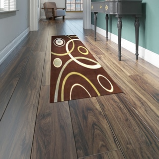 Home Dynamix Optimum Collection Brown Polypropylene Machine Made Area Rug Runner (1'9 x 7'2)