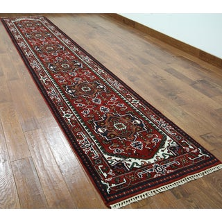 Hand-knotted Serapi Red Wool Runner Rug (2'8 x 14'1)