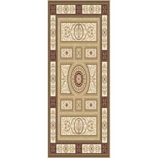 Home Dynamix Regency Collection Traditional Area Rug (27 x 76) (Gold Traditional 27X76 Area Rug)