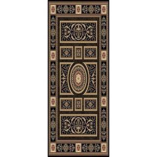 Home Dynamix Regency Collection Traditional Area Rug (27 x 76) (Black Traditional 27X76 Area Rug)