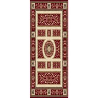 Home Dynamix Regency Collection Traditional Area Rug (27 x 76) (Red Traditional 27X76 Area Rug)