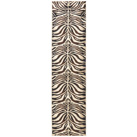 Home Dynamix Tribeca Collection Black / Ivory Polypropylene Machine Made Area Rug