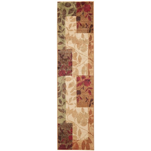 Home Dynamix Tribeca Collection Multicolor Polypropylene Machine Made Area Rug - Brown - 2'2 x 18'