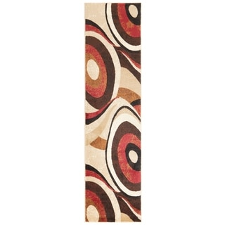 Home Dynamix Tribeca Collection Brown / Red Polypropylene Machine Made Area Rug (2'2 x 18')