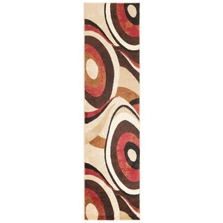 Home Dynamix Tribeca Collection Contemporary Brown / Red Area Rug (2'2 x 18')