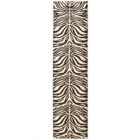 Home Dynamix Tribeca Collection Contemporary Black / Ivory Area Rug (2'2 x 18')