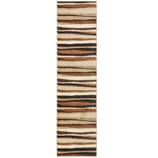 Home Dynamix Tribeca Collection Contemporary Brown Area Rug (2'2 x 18')