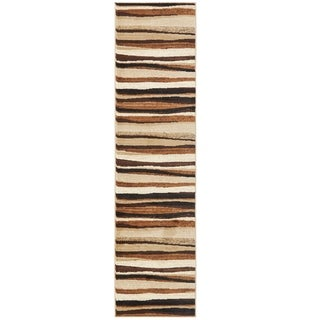 Home Dynamix Tribeca Collection Brown Polypropylene Machine Made Area Rug (2'2 x 20')