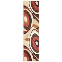 Home Dynamix Tribeca Collection Brown / Red Polypropylene Machine Made Area Rug - 2'2 x 20'