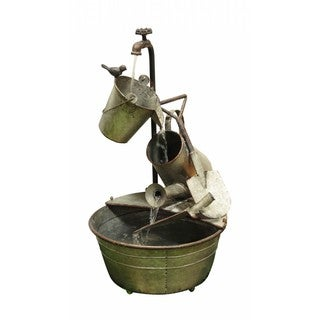 Alpine Corporation 3-Tier Metal Garden Tools Fountain