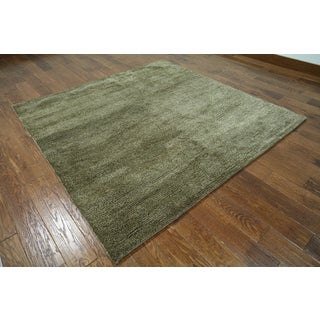 Hand-knotted Moroccan Beige Wool Area Rug (6'3 x 6'3)