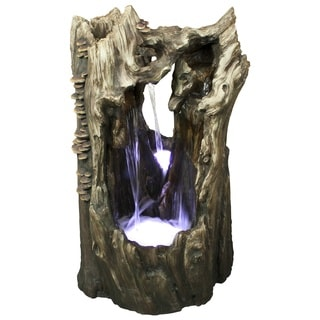 38-inch Rainforest Waterfall Fountain LED Lights