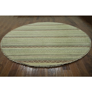 Hand-knotted Gabbeh Natural Wool Area Rug (7'10 x 7'10)