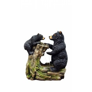 26-inch Bear and Cub Fountain without Light