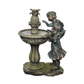 27-inch Boy and Girl Fountain