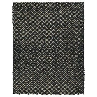 Handmade Jute Eastbay Black Diamonds Rug (8'0 x 10'0)