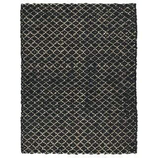 Handmade Jute Eastbay Black Diamonds Rug (3'0 x 5'0)