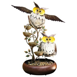 31-inch Metal Owl Tiering Fountain