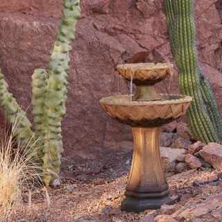31-inch 2 Tier Pedestal Fountain