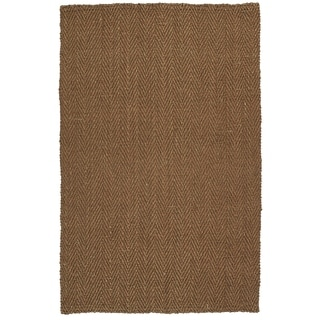 "Handmade Jute Eastbay Copper Chevron Rug (5'0 x 7'6"")"