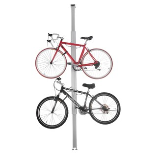 RAD Cycle Aluminum Bike Stand Bicycle Rack Storage or Display Holds Two Bicycles