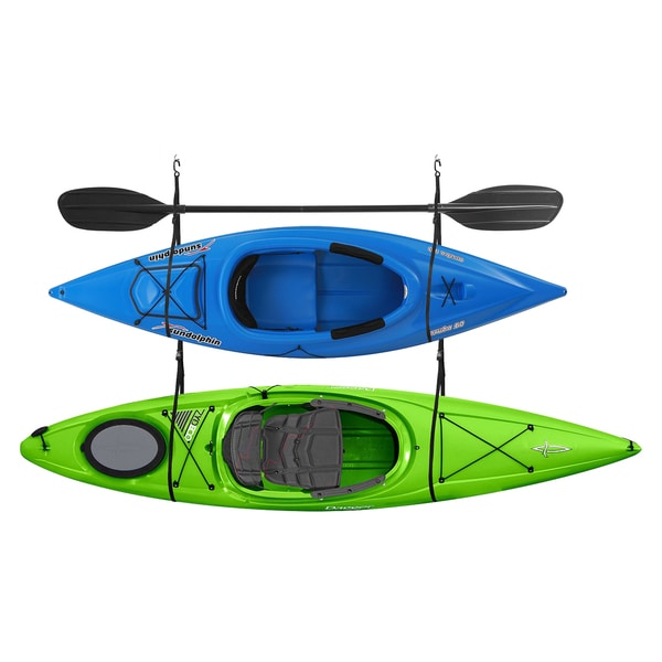 Double Kayak Storage Strap Garage Canoe Hoists 100 lb Capacity