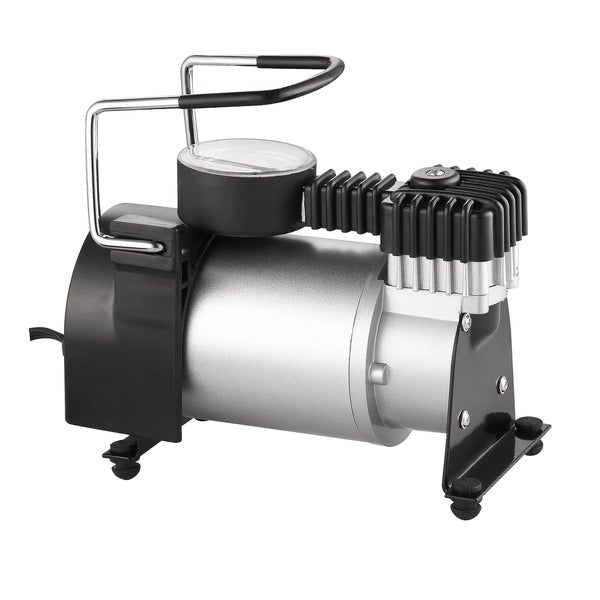 RAD Sportz 12 Volt Electric Air Captain Air Compressor with Gauge for Bike or Auto