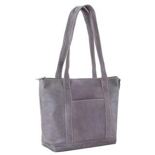 LeDonne Leather Double Strap Pocket Tote Bag