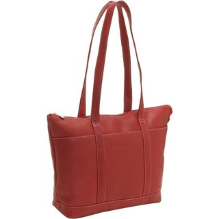 LeDonne Leather Double Strap Medium Pocket Tote Bag