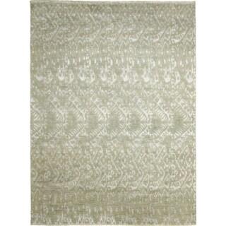 Fine Ikat Jaouad Green Hand-knotted Rug (7'9 x 10')