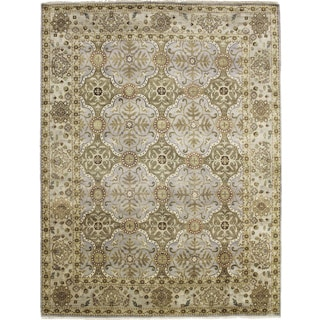 Fine Indo Oushak Akmaral Purple Hand-knotted Rug (8'2 x 10'1)